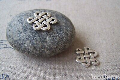 20 pcs of Antique Silver Lovely Chinese Knot Charms 14x17mm A3840