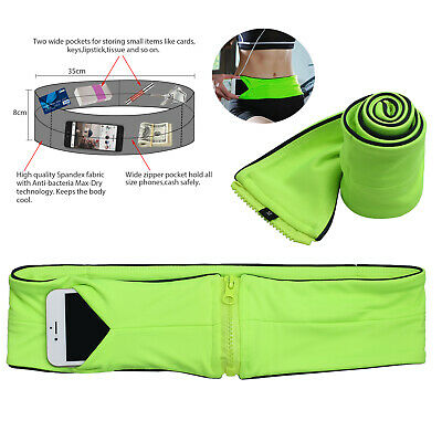 M Waist Exercise Fitness & Running Belt Bag Flip Style Pouch For Mobile Cash Key