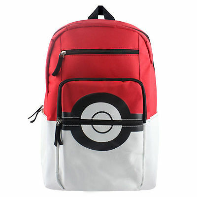 Pokemon Pokeball Bag Backpack Waterproof Rucksack Unisex School College Gift