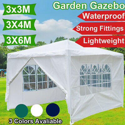 Garden Gazebo Marquee Party Tent Picnic Heavy Duty Canopy 3 Colours 3x3/3x4/3x6m