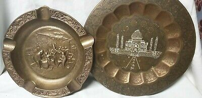 Copper Plate And Ashtray