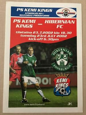 Kemi Kings Finland v Hibernian Scotland 2002 Friendly