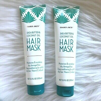 2 Trader Joe's Shea Butter & Coconut Oil Hair Mask Deep Conditioning Treatment