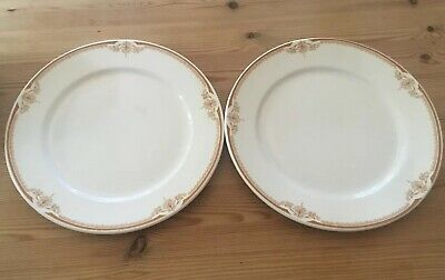 "Two Dudson Fine China 9"" Dinner Plates Made In England"
