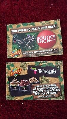 2 X Tickets Chessington World of Adventures Monday 23rd September 2019