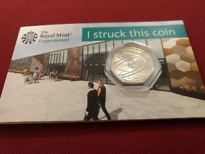 Royal Mint Sir Isaac Newton 50p Pence Coin Pack bu 2018 strike your own lot 5