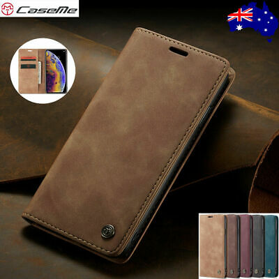 Magnetic Leather Wallet Card Stand Case Samsung S10 5G S9 S8 Note 10 Plus S7edge