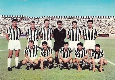 Calcio/Football Cartolina sq. JUVENTUS 1966 con DE PAOLI, ANZOLIN originale