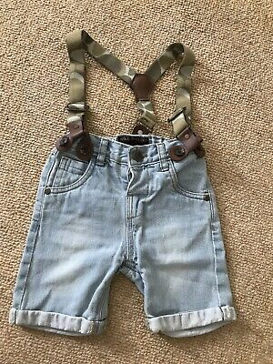 Soul & Glory Boys Jeans Shorts With Braces 1.5-2 Years 18-24 Months