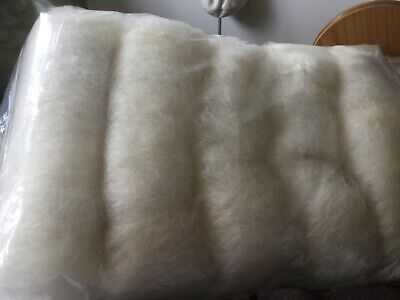 325gm White faced Dartmoor, carded bats, gorgeous wool, spinning, felting, craft