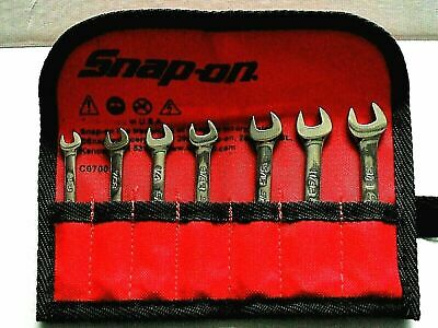 SNAP ON SPANNER SET.MIDGET..IMPERIAL..3/16 TO 3/8 IN POUCH.NEW.oxi707bk --