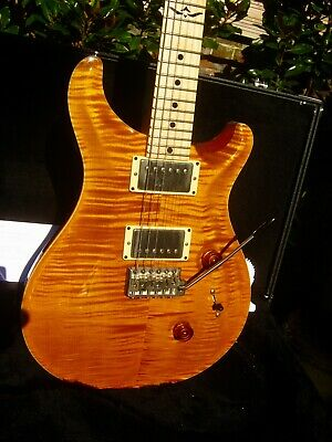 ♚PRS* Paul Reed Smith JOHNNY HILAND Signature USA♚TREM♚AMBER TIGER!♚22*24♚Custom