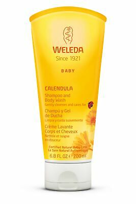 Weleda Baby Calendula Shampoo And Body Wash For Delicate Hair And Skin 6.8 Oz x3
