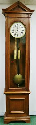 Very Rare Antique Oak Weight Driven Longcase Precision Regulator Master Clock