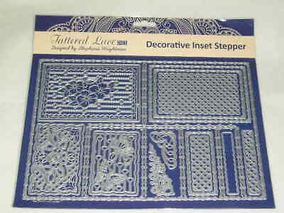 Tattered Lace Cutting Dies - Decorative Inset Stepper (16 Dies) (B)