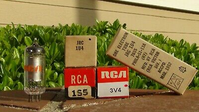 1U4 x2 1S5 3V4 NOS RCA Tubes for G500 Zenith Transoceanic-Tested-Free Shipping
