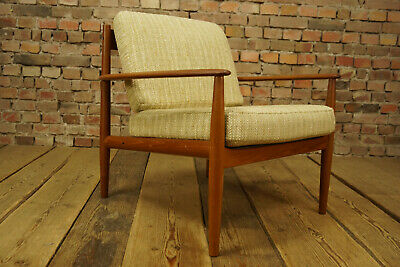 60er Teak Sessel Grete Jalk Easy Chair Danish France & Son Vintage 1/2