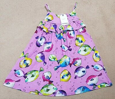 Next Girls Puffer Fish Summer Dress 3-4 Years BNWT