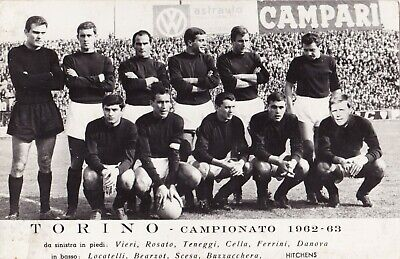 Calcio/Football Cartolina sq. TORINO 1962-'63 con VIERI, ROSATO originale