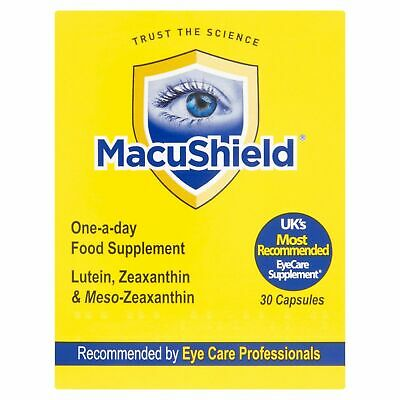 3 X MacuShield One-A-Day Food Supplement 30 Capsules