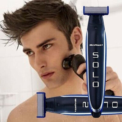 Micro Touch SOLO Men's Electric Shaver Rechargeable Edges Trimmer Razor Gift Kit
