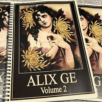 Alix Ge - Volume 2 - Neo Traditional Tattoo Flash Book Asian Girls