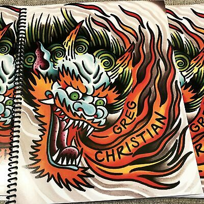 Greg Christian -Tattoo Faction Sketchbook American Traditional Tattoo Flash Book