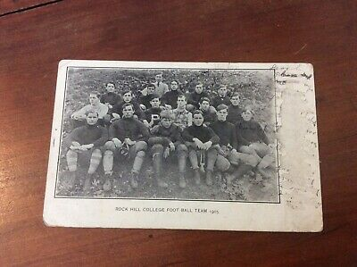 Postcard Private Mailing Card Rock Hill College Football Team 1905