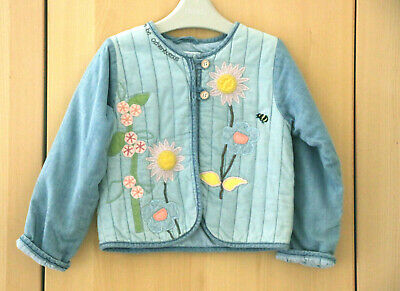 Next Girls Gorgeous Denim Embroidered Jacket Age 3-4 Years BNWT Tag £21