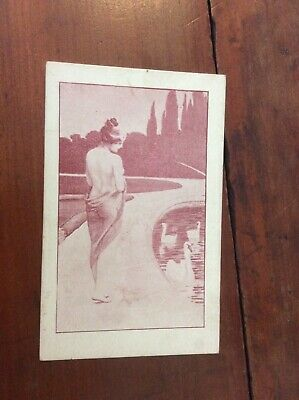 Postcard Private Mailing Card Beautiful Woman Swans