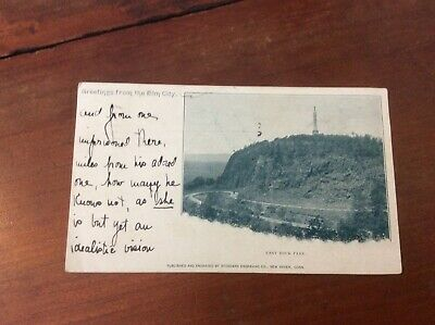 Postcard Private Mailing Card Greetings From Elm City East Rock Park