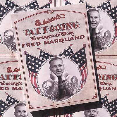 Fred Marquand  Electric Tattooing Experienced Work Traditional Tattoo Flash Book