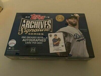 2019 Topps Archives Signature Series - Active Edition Factory Sealed Hobby Box