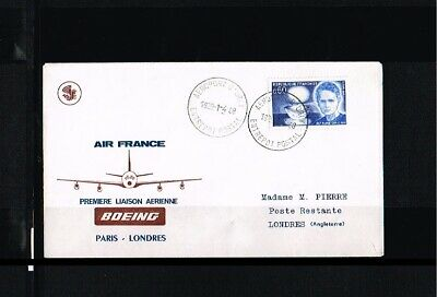 [FS012] 1968 - France Air France first flight - Transport - Airplanes - Paris-Lo