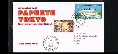 [FS113] 1973 - France Air France first flight - Transport - Airplanes - Papeete-