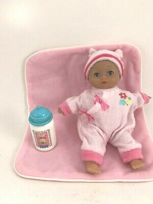 Lissi Baby Doll With Pink Pajamas And Blanket Plus F-P Bottle Doll Is 8""