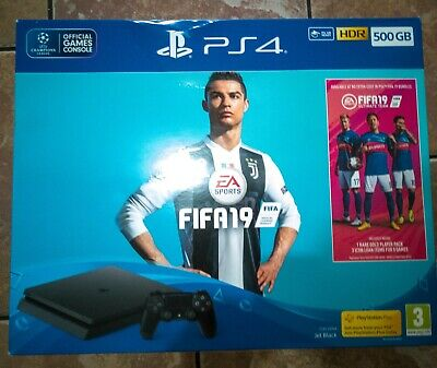 Sony PlayStation 4 500GB Jet Black Console with FIFA 19 Bundle
