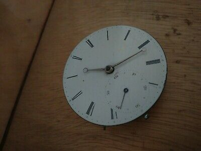 english fusee pocket watch movement from watchmaker Hatfiled & Hall