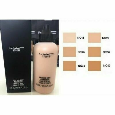 Mac Studio Face And Body Liquid Foundation 120Ml Full - Free First Class Post