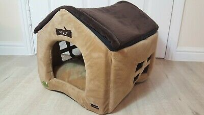 Small dog bed for Chihuahua, Dachsund, Toy Breeds Kennel style house foldable