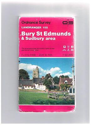 Ordnance Survey Map 1;50,000 155 Bury St Edmunds, Sudbury 1986 Inc. Stowmarket.