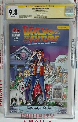 Back To The Future #3 Archie Variant Cover Cgc Ss 9.8 Signed By