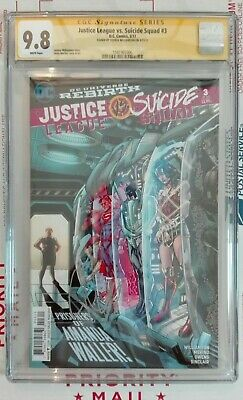 Justice League Vs. Suicide Squad #3 Cgc Ss 9.8 Signed By Joshua Williamson