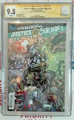 Justice League Vs. Suicide Squad #4 Cgc Ss 9.8 Signed By Joshua Williamson