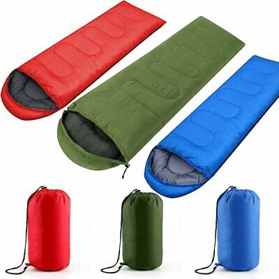 3 Season Soft Camping Hiking Envelope Sleeping Bag Warm Adult Single Cosy Sleep