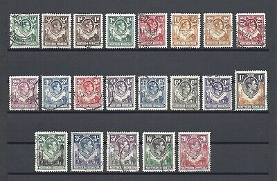 NORTHERN RHODESIA 1938-52 SG 25/45 USED Cat £170