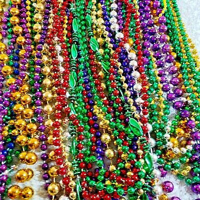 NOLA Mardi Gras Beads Huge Lot 180 Pair Assortment Party Favors Parades Crafts