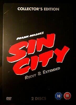 Sin City Collectors Edition Recut & Extended Steel Case 2 Disc DVD Edition