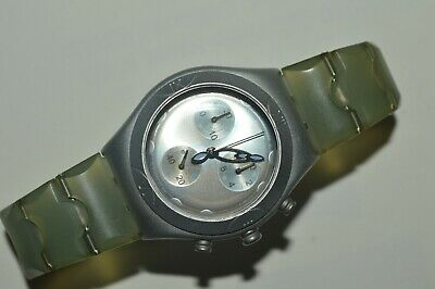 2001 Vintage Swatch Irony Chrono Watch YMS1004 ARTIC DREAM Swiss Ladies Quartz