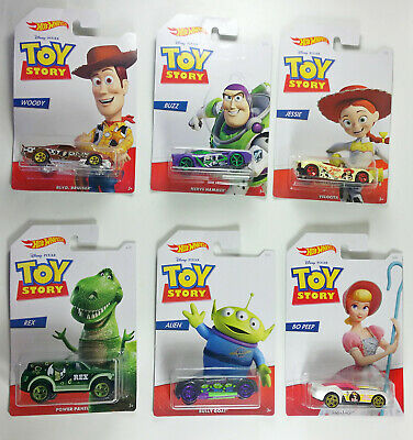Hot Wheels Toy Story Complete 6 Car Set Walmart Exclusive 2019 Brand New